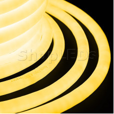 Гибкий Неон LED 360 - желтый, бухта 50м