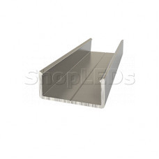 Алюминиевый анодированный профиль накладной (держатель для плоского и круглого профиля)