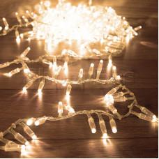 Гирлянда «Кластер» 10 м, 400 LED, прозрачный ПВХ, IP65, соединяемая, цвет свечения теплый белый NEON-NIGHT