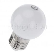 Лампа шар e27 5 LED ∅45мм - тепло-белая