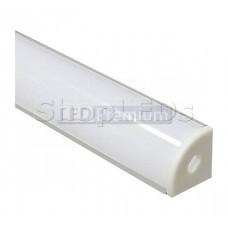 Профиль алюминиевый угловой круглый, серебро, CAB280
