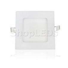 Светодиодная панель BKL-T-121-6W (белый квадрат, 6W, 121x121x14mm) (теплый белый 3000K)